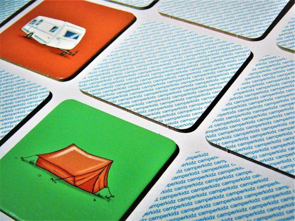 Camping Memo Memory Karten Camperkidz Shop Camping Artikel für Kinder
