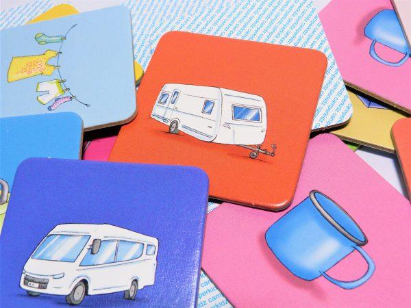 Wohnmobil Memo Memory Campingfahrzeuge Camperkidz Shop Camping Spiele für Kinder