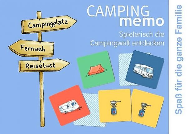 Camping Memo Memory Campingfahrzeuge Spiele Camping Artikel für Kinder