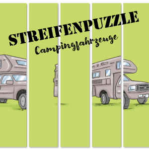 Streifenpuzzle Campingfahrzeuge Camperkidz Shop Camping Spiele Camping Artikel für Kinder